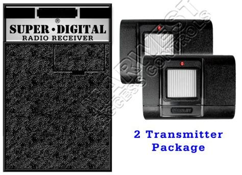 Stanley Garage Door Opener Receiver And Double Transmitter Set Garage Door Opener Receiver And Transmitter