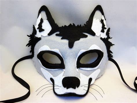 How To Make A Wolf Mask Out Of Paper - happenstance wedding felt animal masks
