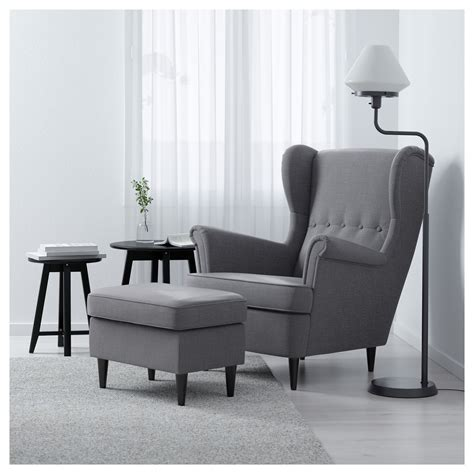 strandmon wing chair nordvalla gray strandmon wing chair nordvalla grey ikea