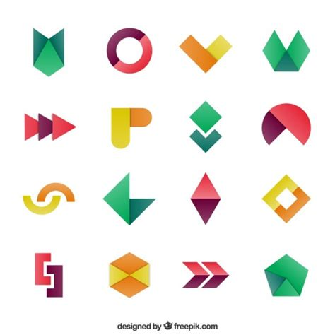 Anting Tusuk Inspired Shape Design geometric shapes in colorful style vector free