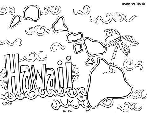 preschool vacation coloring pages hawaii coloring page by doodle art alley usa coloring