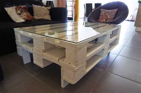 table en palette europe table en pallette awesome table basse en verre et palette