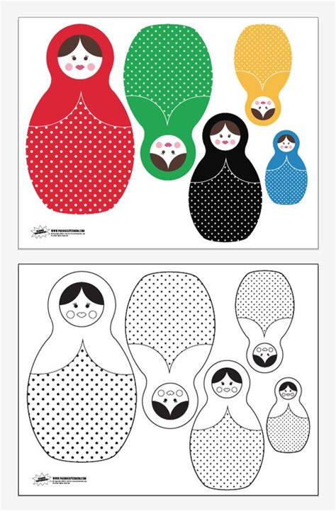 free printable russian nesting dolls