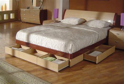 symphony king size modern platform bed  storage