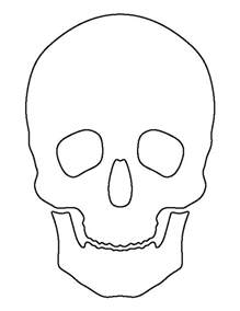 blank sugar skull template skull pattern use the printable outline for crafts
