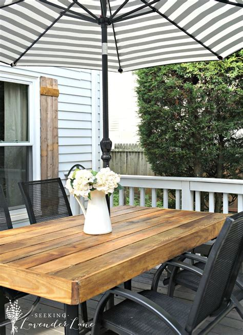 patio table with umbrella diy patio table with umbrella diy patio table 15 easy