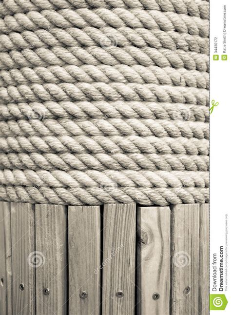 Rope Wrapped L by Rope On A Post Stock Photography Image 34430172