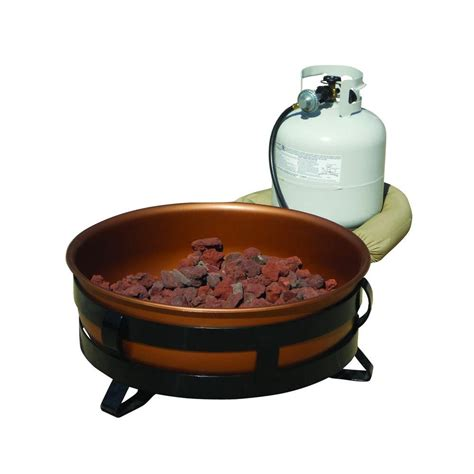 c chef portable propane pit kingsman fp2785 outdoor rectangular gas pit with cover