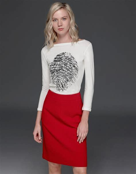 maroon a line skirt aw2017 roberto verino