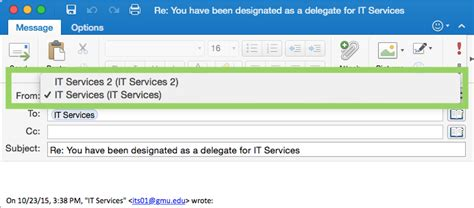 Office 365 Delegate Access Act As A Delegate So I Can Send Reply And Act On Behalf