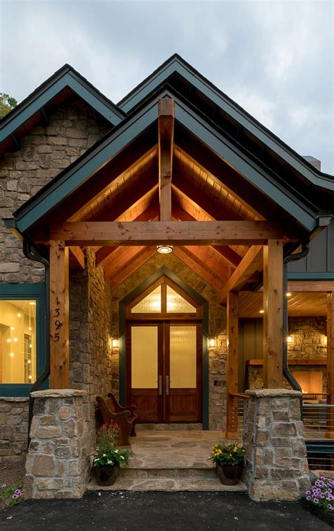 Mountainside Home Plans waynesville mountain modern craftsman house acm design