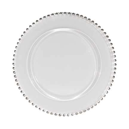 silver beaded charger plates glass with silver beaded edge charger rental for your