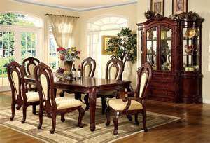 Formal Cherry Dining Room Sets by Formal Dining Room Set W Dark Cherry Finish And Carving