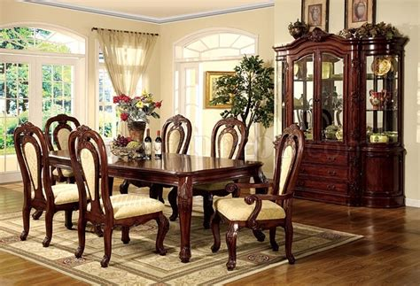 Formal Cherry Dining Room Sets Formal Dining Room Set W Cherry Finish And Carving Details