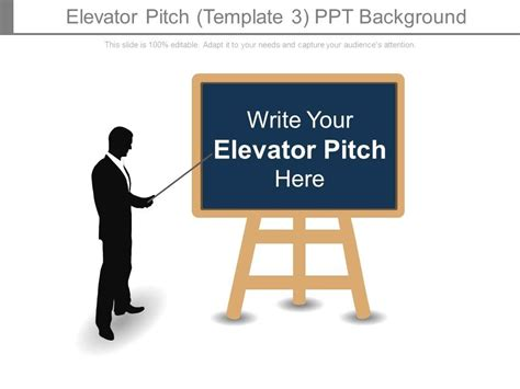 Elevator Pitch Template3 Ppt Background Ppt Images Gallery Powerpoint Slide Show Elevator Pitch Presentation Template