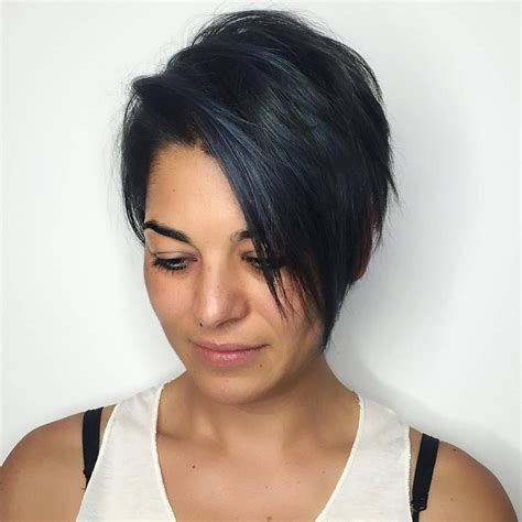 fake hair highlights for pixie cuts long straight pixie cut for fine black hair with subtle