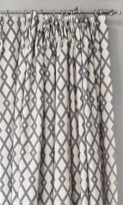 Grey Trellis Curtains White Grey Geometric Curtains Beautiful Grey And White Trellis Fabric Make My