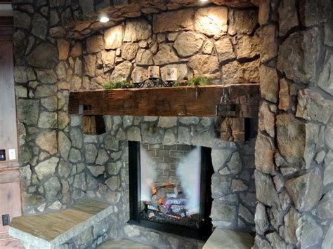 DIY Rustic Fireplace Mantel   FIREPLACE DESIGN IDEAS