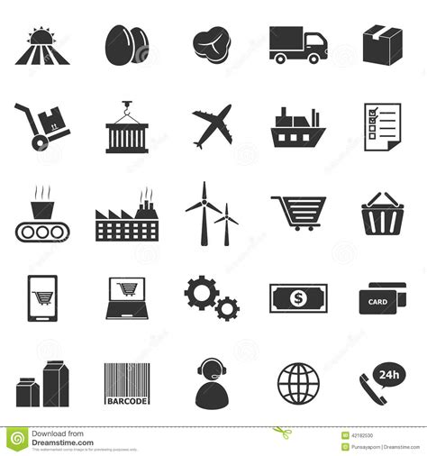 House Shop Plans by Supply Chain Icons On White Background Stock Vector