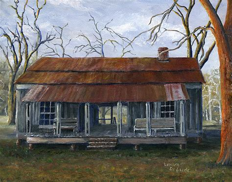 dogtrot house hand painted art dogtrot house in pleasant hill louisiana painting by lenora de lude