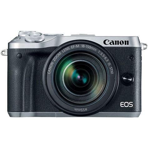 canon eos m6 ef m 18 150mm silver canon eos m6 ef m 18 150mm is stm silver mirrorless