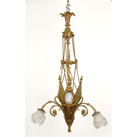 shaped chandelier bronze flower basket shaped chandelier with wedgwood