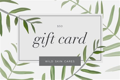 Wild Gift Cards - 50 wild egift card wild skin cares