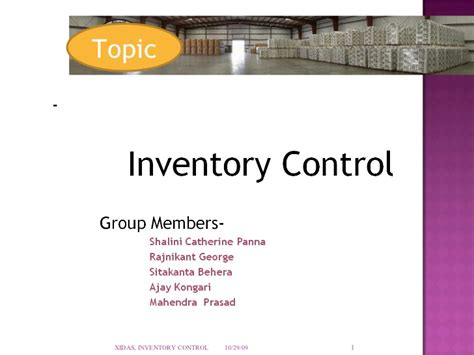 Inventory Control Final Ppt Inventory Powerpoint Presentation Template