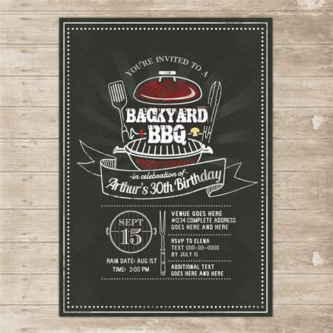 Backyard Invitations by Backyard Bbq Invitation Grill Cookout Invite Family Picnic