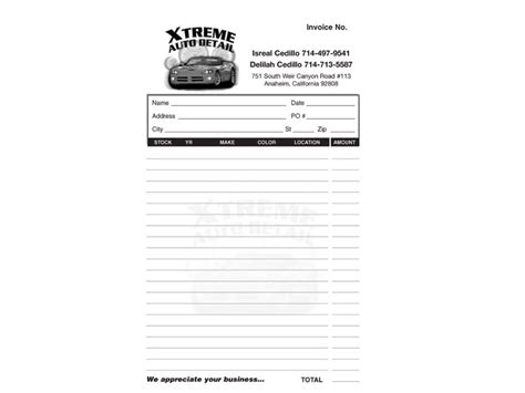 car wash invoice template our portfolio print stationary ad america hani jouni