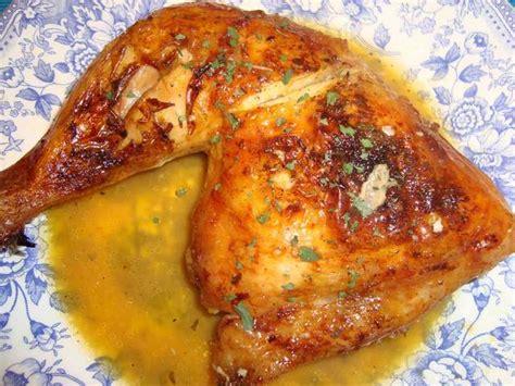 cuarto de pollo al horno cuartos de pollo al horno