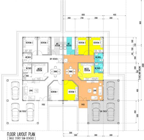 single storey semi detached house floor plan new single storey semi detached house in miri lakeshore villa senadin