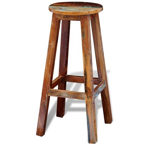 Bar Stools High by Reclaimed Solid Wood High Bar Stool Vidaxl