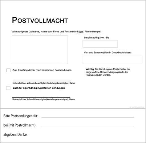 Vollmacht Schreiben Muster Post Postvollmacht Deutsche Post Tracking Support