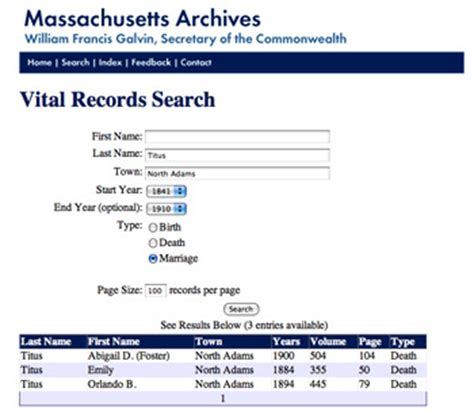 Records Massachusetts Using The Index To Massachusetts Vital Records 1841 To 1910 Genealogyblog