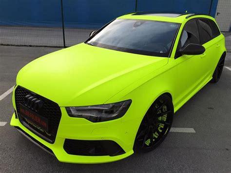 Autofolierung Slowenien by Fluorescent Neon Folierung Am Audi Rs6 C7 Avant By Bb