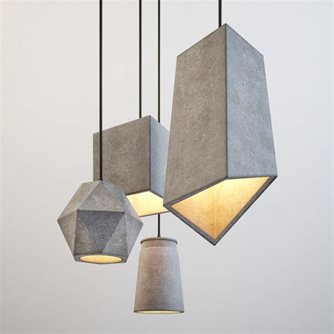 moderne leuchten modern cement lights 3d model cgtrader