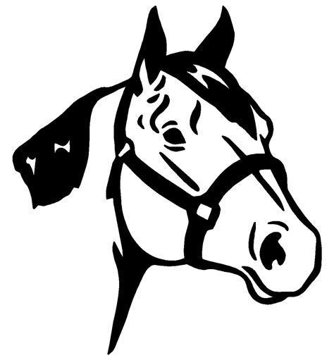 printable horse stickers free printable realistic horse coloring pages 01