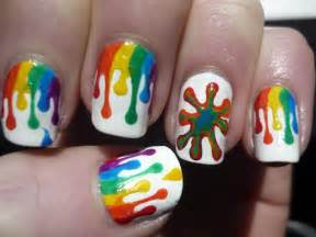 dripping paint nail art tutorial youtube