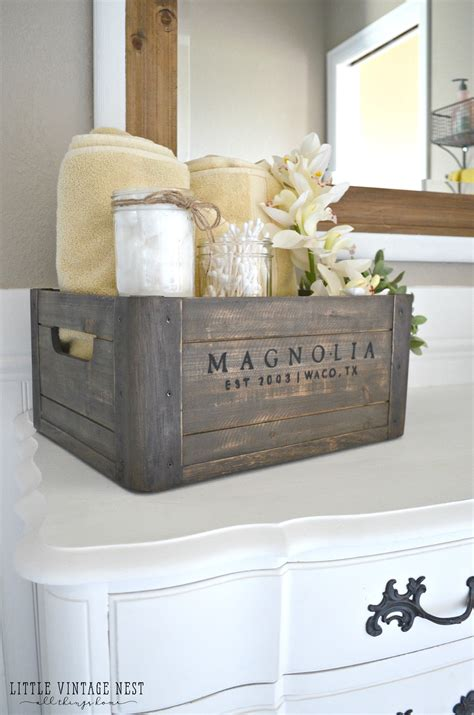 bathroom vanity decorating ideas 5 ways to style a wooden crate vintage nest