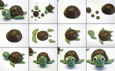 how to make a turtle out of fondant turtle cake topper by maries hobby corner the