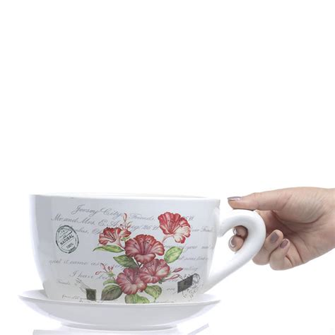Tea Cup Planter by Inspired Tea Cup And Saucer Flower Planter Vase