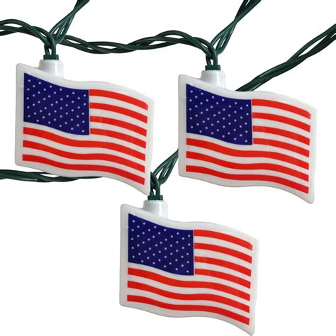 american flag party string lights