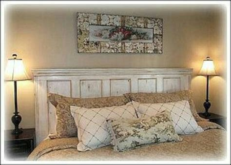 using an old door as a headboard old door new headboard repurposed pinterest
