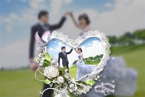 Wedding photo frame beautifully