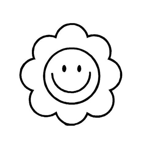 dibujos para colorear de cara feliz dibujos de flor sonriente para colorear
