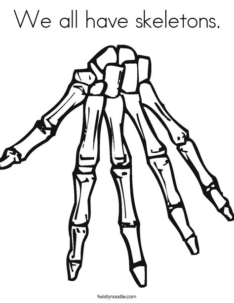 free coloring pages of human skeleton