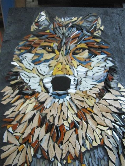 mosaic wolf pattern 56 best images about mosaic animals by kat gottke on