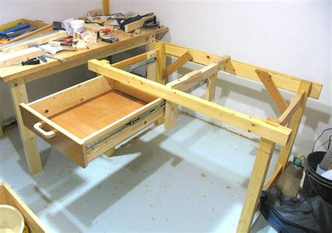 Build Workbench With Drawers by Open Bottomed Workbench