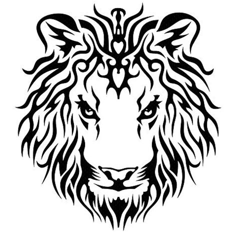 tribal lion tattoo design images designs